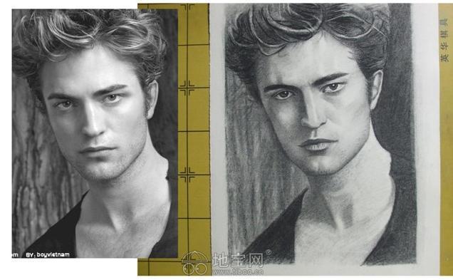 素描 人物/素描画像定制素描画纯手绘 人物人像素描