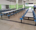 六人位九江员工餐桌椅,九江食堂餐桌椅定做